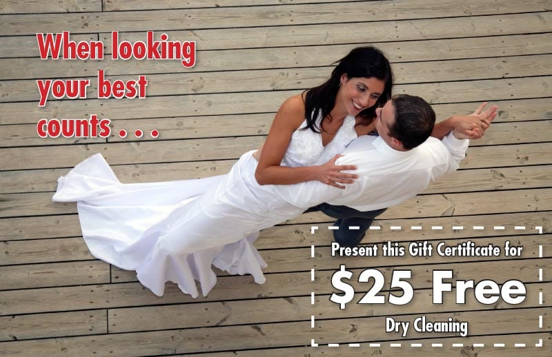 Dry cleaner promotion card