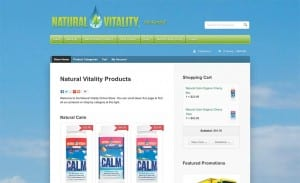 Natural Vitality online retail store